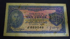 10 cents Board of Comm of Currency Malaya 15th Aug 1940 note in great cond.!!