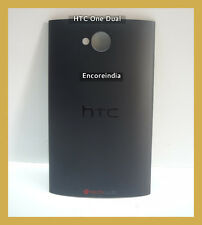 Original Back Battery Door panel Housing Only For HTC One Dual Black