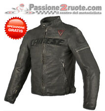Giacca pelle Dainese Archivio black ace moto vintage classic retro cafe racer