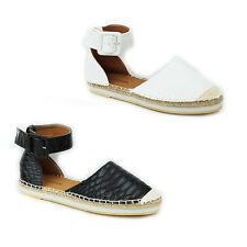 WOMENS LADIES WEAVE CHUNKY SOLE ANKLE CUFF SANDALS ESPADRILLES SHOES SIZE 3-8