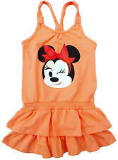 NEU! Disney Minnie Mouse Sommerkleid Kleid Strandkleid apricot 98 104 116 128