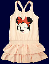 NEU! Disney Minnie Mouse Sommerkleid Kleid Strandkleid lachs 98 104 116 128