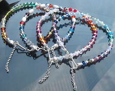 925 Silver Colorful Bracelet made with Swarovski Elements Bicone Crystal