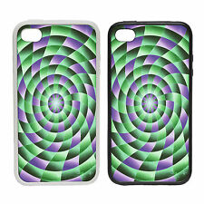 Spiral 1 -Rubber and Plastic Phone Cover Case- Abstract Design