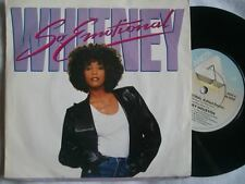 "WHITNEY HOUSTON So Emotional 7"" 45 Sound Clip in Listing"