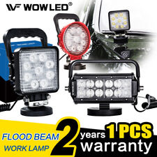 Magnetic Base 27W LED Work Light Offroad Floodlight Truck Car 3M Extension Cable