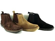 HOMBRE BOTAS SAFARI ANTE BY ROAMERS DOBLE COSTURA TALLA UK6-12 MARRÓN COLOR TOPO