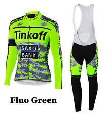 Cycling Winter Thermal Fleece Long Tinkoff Jerseys Bike 2016 Ropa Ciclismo Set