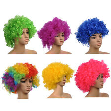 Short Wig Cosplay Wig Clown Wig Blue Pink Green Yellow Pink Color