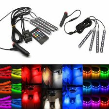 LED Car SUV Interior Atmosphere Decorative RGB Light Strips Control Bulb Lamp UK
