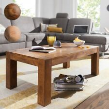FineBuy table basse solide bois 110cm large table basse rustique table d'appoint