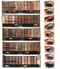 Technic Mega Nude Collection Eyeshadow 12 Shade Palette Smokey Sultry Eye Makeup