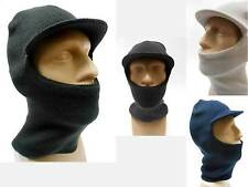 Winter Visor Beanie Balaclava Black, Navy Blue, Dark Gray Cold Weather Ski Mask