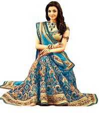 Bollywood Inspired -  Traditional Sky Blue Lehenga Choli - 60224F