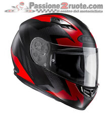 Casco integrale moto Hjc Cs15 Cs-15 Treague Mc1sf Mc-1sf nero rosso black red