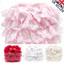 GIRLS BABY FRILLY KNICKERS SPANISH STYLE SOFT FRILLY PANTS SATIN BOW SOFT 0-3 Y