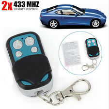 2x Electric Gate Cloning Key Fob Remote Control for Car Garage Door 433.92mhz UK