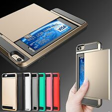 REAL  TPU Shockproof Wallet Case Cover For New iPhone 7 7+ 6 6s Plus 5c SE 5 5S