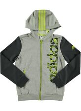 adidas boys grey zip up hooded top. Hoodie. Tracksuit top. Ages 5-16Y