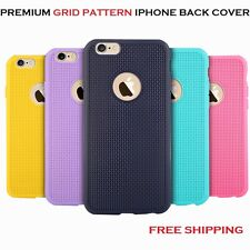 Luxury Grid Pattern Soft Silicone TPU Back Case Cover for iPhone 6, 6s, 5se, 5s