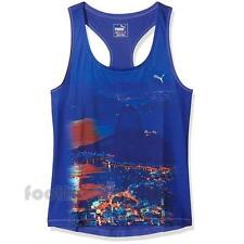 Puma Tank Top Essential Graphic layer 514663 02 Moda Donna IT Blue Sport Run