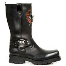 NEW ROCK  ITALI MOTORCYCLE BLACK BOOTS MS.7636-S1
