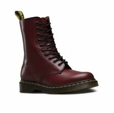 DR MARTENS 1490Z cherry red smooth leather 10-eye Airwair DM boot size 3-13UK