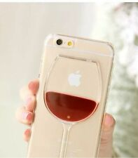 Red Wine Glass Moving Liquid 3D Case Cover For Apple iPhone 6s 7 7 Plus ,8 ,X