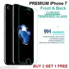 Apple iPhone 7 CURVED Tempered Glass Screen Guard Protector FRONT and BACK 4.7""