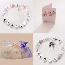 Personalised Jewellery for Girls, Bracelets with Names, Colour & Charm Choices