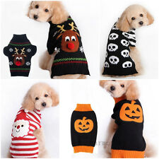 Dog Pet Puppy Cat Warm Jumper Knit Sweater Clothes Knitwear XMAS Costume Apparel