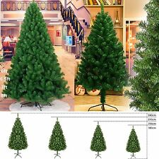 6FT,7FT,8FT Artificial Christmas Tree Pine Green w/ Metal Stand Xmas Decorations