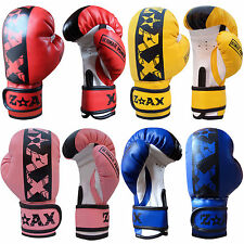 JUNIOR BOXING GLOVES CHILDREN PUNCHBAG MITTS GLOVES KIDS 4,6,8 OZ