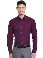 Hancock Maroon Solid Pure Cotton Slim Fit Formal Shirt(43360Maroon)