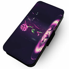 Beasts Obsession -Faux Leather Flip Phone Cover Case- Beauty Rose Witch Belle