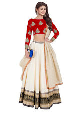 Bollywood Inspired -   Party Wear White & Red Lehenga Choli - 60225A