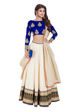 Bollywood Inspired -   Festival Wear White & Blue Lehenga Choli - 60225C