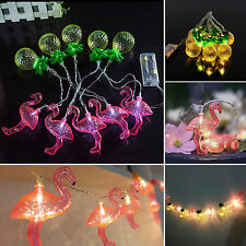 10 LED Flamingo Pineapple Battery Operated Fairy String Lights Christmas Decor