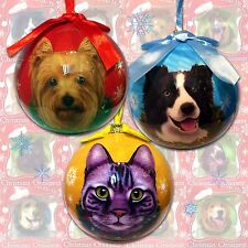 Christmas Tree Bauble DOG CAT black Labrador Spaniel Westie Yorkshire Pug Animal