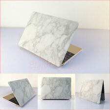 """★ For  MacBook Pro 15"""" ★ New White Marble Texture Rubberized Hard Case Cover ★"""