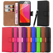 Lenovo B Flip Leather Wallet Book Case Cover With Free Screen Guard & Stylus