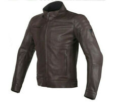 Moto leather jacket Dainese Bryan dark marrón