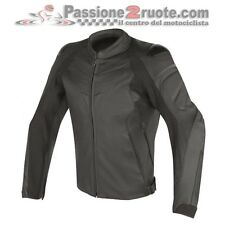 Dainese Fighter black Moto racing sport leather jacket