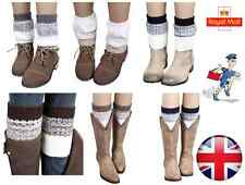 New Crochet Boot Cuffs Boot Toppers Socks Faux Leg Warmers One Size - UK Seller