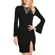 Fashion Casual WomenS Slimming Dress Long sleeved Sexy Sweater Dress Party Dress