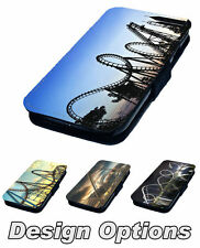 Rollercoaster Designs - Printed Faux Leather Flip Phone Cover Case