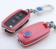 Carbon Fiber Car Key Cover For Volkswagen VW Golf 4 5 6 Polo Passat B5 Jetta MK5