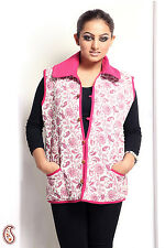 Soft Cotton filled Printed Quilted Jaipuri Jacket - LJCK1303