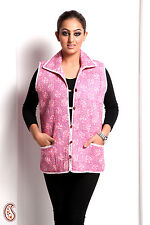 Light Pink and Mauve Pure Cotton Quilted Jacket - LJCK1305