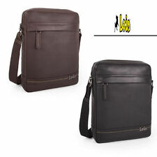 Bandolera de piel para Ipad marca Lois leather shoulderbag size  black  or brown